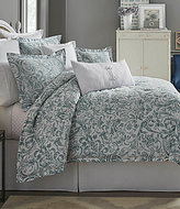 Southern Living Dunmore Floral Scroll Satin Comforter Mini Set
