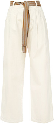 Brunello Cucinelli Belted Mid-rise Wide-leg Jeans