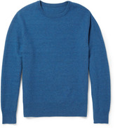 The Elder Statesman - Herringbone-knit Cashmere Sweater