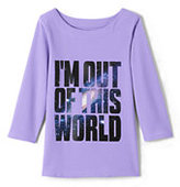 Classic Toddler Girls Graphic Knit Tee-Out Of This World