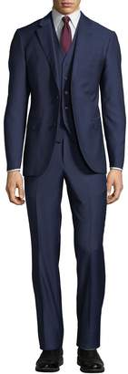 Neiman Marcus Men's Mini Box Weave Vested 3-Piece Suit