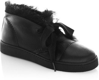 Pedro Garcia Parley Dyed Shearling & Leather High-Top Sneakers