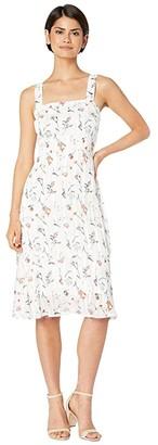 Sam Edelman Ditsy Print Sheath Dress (Ivory Multi) Women's Dress