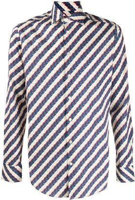 Etro graphic stripe print T-shirt