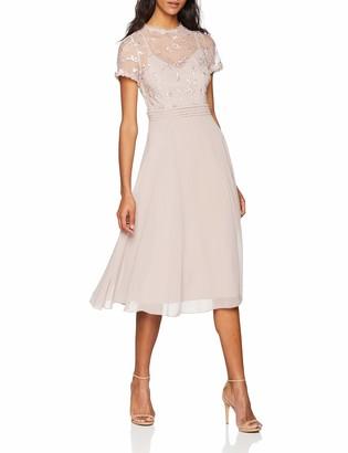 Little Mistress Women's 3D Floral Midi Dress