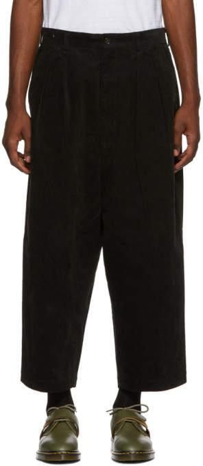Comme des Garcons Homme Homme Black Wide Corduroy Trousers