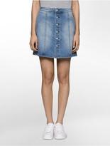 Calvin Klein Indigo A-Line Denim Skirt