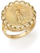 Bloomingdale's Coin Ring in 14K Yellow Gold - 100% Exclusive