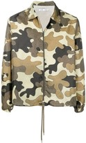 Cmmn Swdn lightweight zip up camouflage jacket