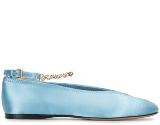 J.W.Anderson Crystal-Strap Ballerina Shoes
