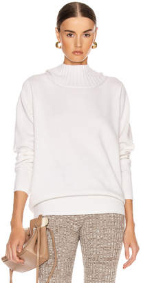 Chloé Open Back Tie Sweater in White | FWRD