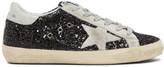 Golden Goose Deluxe Brand SSENSE Exclusive Black Glitter Superstar Sneakers