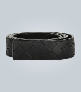 Bottega Veneta Hidden buckle leather belt