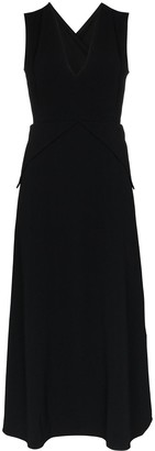 Victoria Beckham Crossover Back Back Midi Dress
