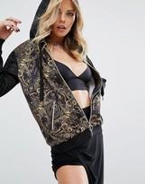 Versace Digital Baroque Print Hooded Tracksuit Top