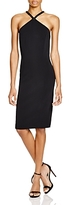 Carmen Marc Valvo Sleeveless Embellished Neck Dress