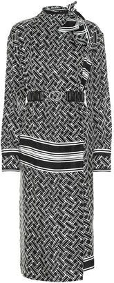 Bottega Veneta Printed silk midi dress