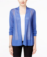 Alfani Petite Mixed-Stitch Cardigan, Only at Macy's