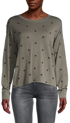 Splendid Embroidered Star Sweatshirt