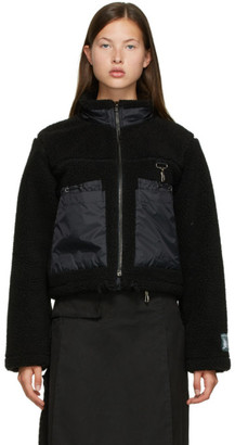 Reese Cooper Black Sherpa Fleece Jacket