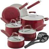 Paula Deen Aluminum Savannah Collection 12-Piece Cookware Set in Red-DISCONTINUED