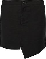 Marissa Webb Loris asymmetric cotton-blend mini skirt