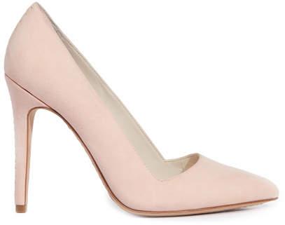 Alice + Olivia Dina Perfect Pink Suede Heel