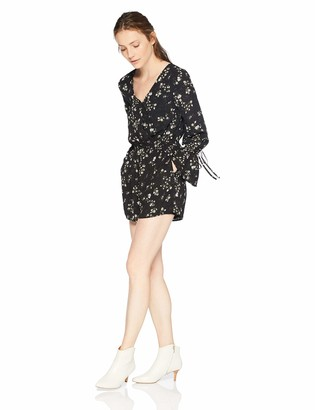 Cupcakes And Cashmere Women's Infinity Floral V-Neck Romper