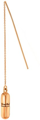 True Rocks 18 Carat Rose Gold Plated Pill Pull Through Earring
