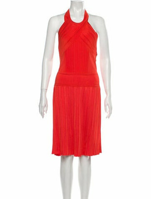 Balmain Halterneck Mini Dress w/ Tags Orange