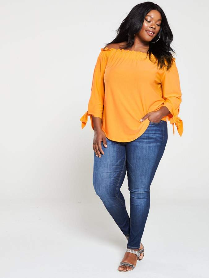 97ada4cc5b7 Off The Shoulder Jersey Top - ShopStyle UK