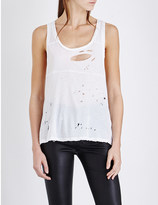 Unravel Distressed cotton-jersey top