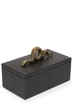 Carla Carstens Noir Croc Small Rectangular Box