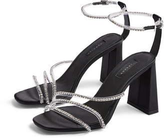 Topshop Sky Diamonte Ankle Strap Sandal