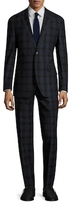 English Laundry Plaid Notch Lapel Suit