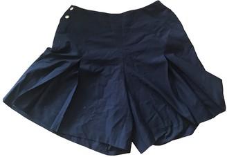 Chanel Black Wool Shorts