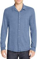 Velvet Marsh Heathered Jersey Knit Regular Fit Button Down Shirt