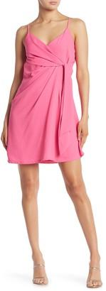 Sugar Lips Sleeveless Tie Front Mini Dress
