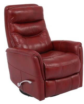 Red Barrel Studio Unruh Leather Manual Swivel Glider Recliner Fabric: Rouge