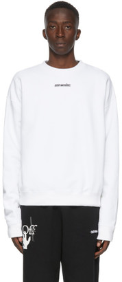 Off-White White and Blue Marker Arrows Sweatshirt