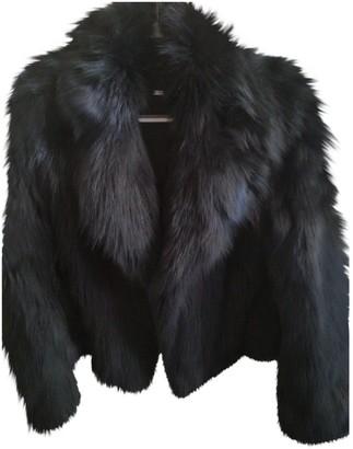 Diane von Furstenberg Black Fox Coat for Women