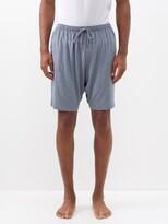 Derek Rose Marlowe Jersey Pyjama Shorts - Mens - Grey