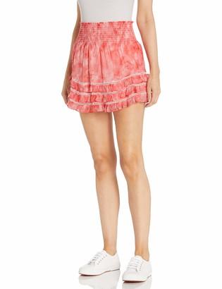 Ramy Brook Women's Tie Dye Printed Dixie Skirt with Ruffle Hem