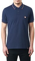 Pretty Green Elmwood Slim Fit Polo Shirt, Navy