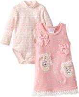 Bonnie Baby Baby-Girls Infant Mitten Applique Sweater Jumper Set