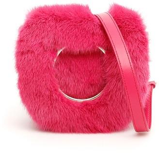 Salvatore Ferragamo Gancini Fur Crossbody Bag