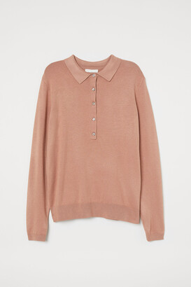 H&M Fine-knit Sweater with Collar