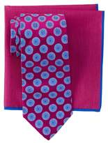 Ted Baker Circle Medallion Silk Tie & Pocket Square Set