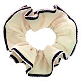 Johnny Loves Rosie Cream and Navy Hair Scrunchie with Red Stitching