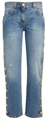 Balmain Button-Detail Straight Jeans